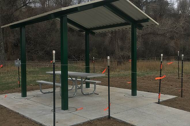 Clear Creek Trail (CO) 7-8 Sun Shelters have been added to trail