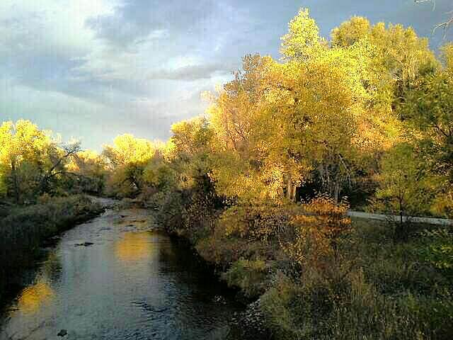 Clear Creek Trail (CO) October sunset