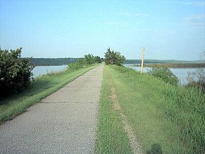 Cleveland Trail Causeway Causeway looking east toward the bridge.