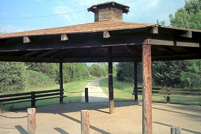 Cleveland Trail Gazebo This is near the center of the trail where parking is available. It is accessible from Hwy 64 just south of Cleveland's town center.