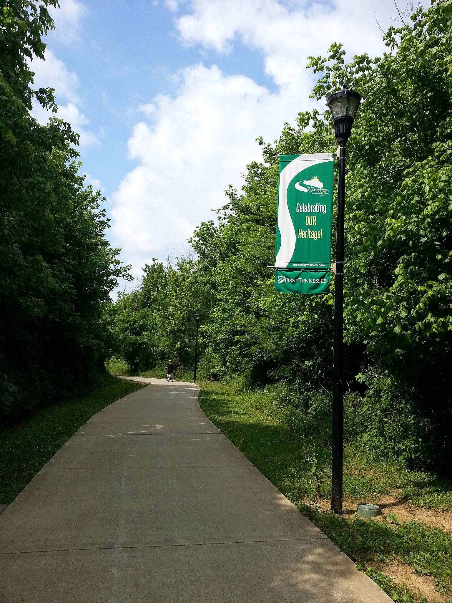 Cleveland/Bradley County Greenway Wide path & great View