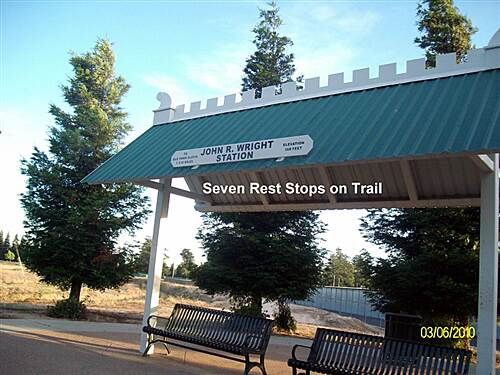 Clovis Old Town Trail Rest Stop on Clovis Old Town Trail One of Seven on Trail  at dry Creek Trail Junction