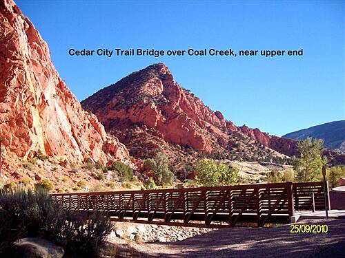 Coal Creek Trail (UT)  Coal Creek Trail, Cedar City, UT Bridge over Coal Creek