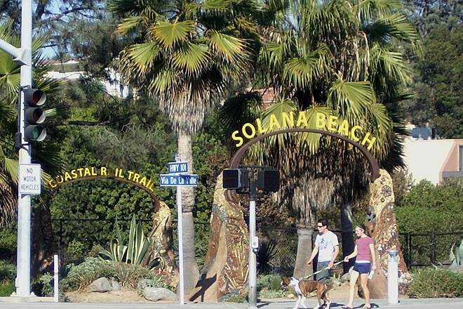 Coastal Rail Trail Solana Beach Coastal Rail Trai South entrance to the trail