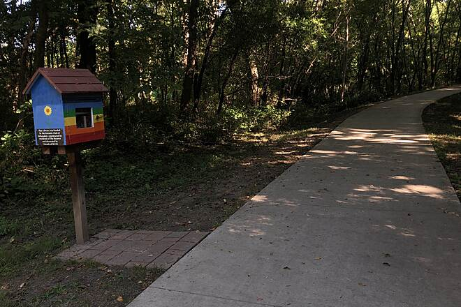 Colby Woods Trail  Colby Woods Library Box