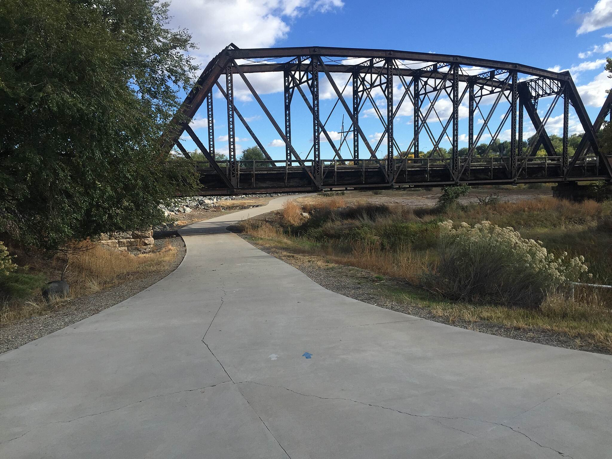 Colorado Riverfront Trail CRFT- RR bridge RR bridge near confluence of Gunnison River