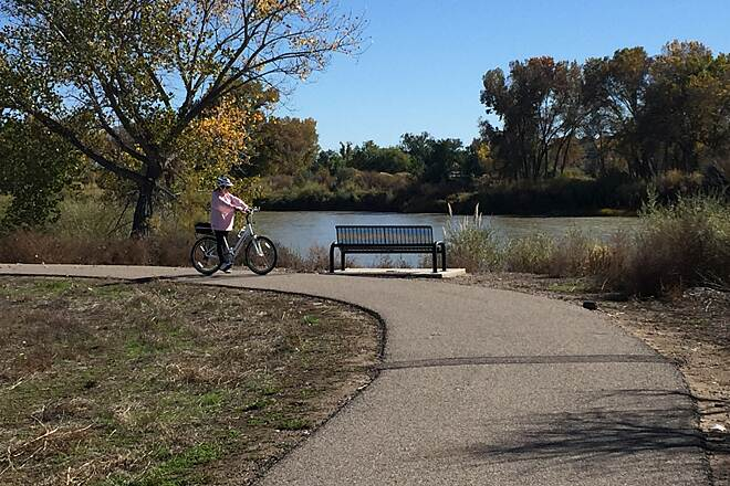 Colorado Riverfront Trail CRFT- bench 1 A place to rest and enjoy the river