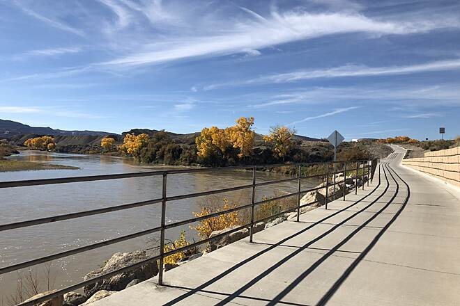 Colorado Riverfront Trail Colorado Riverfront Trail 2018-3 West End of New Section at Loma I-70 Exit