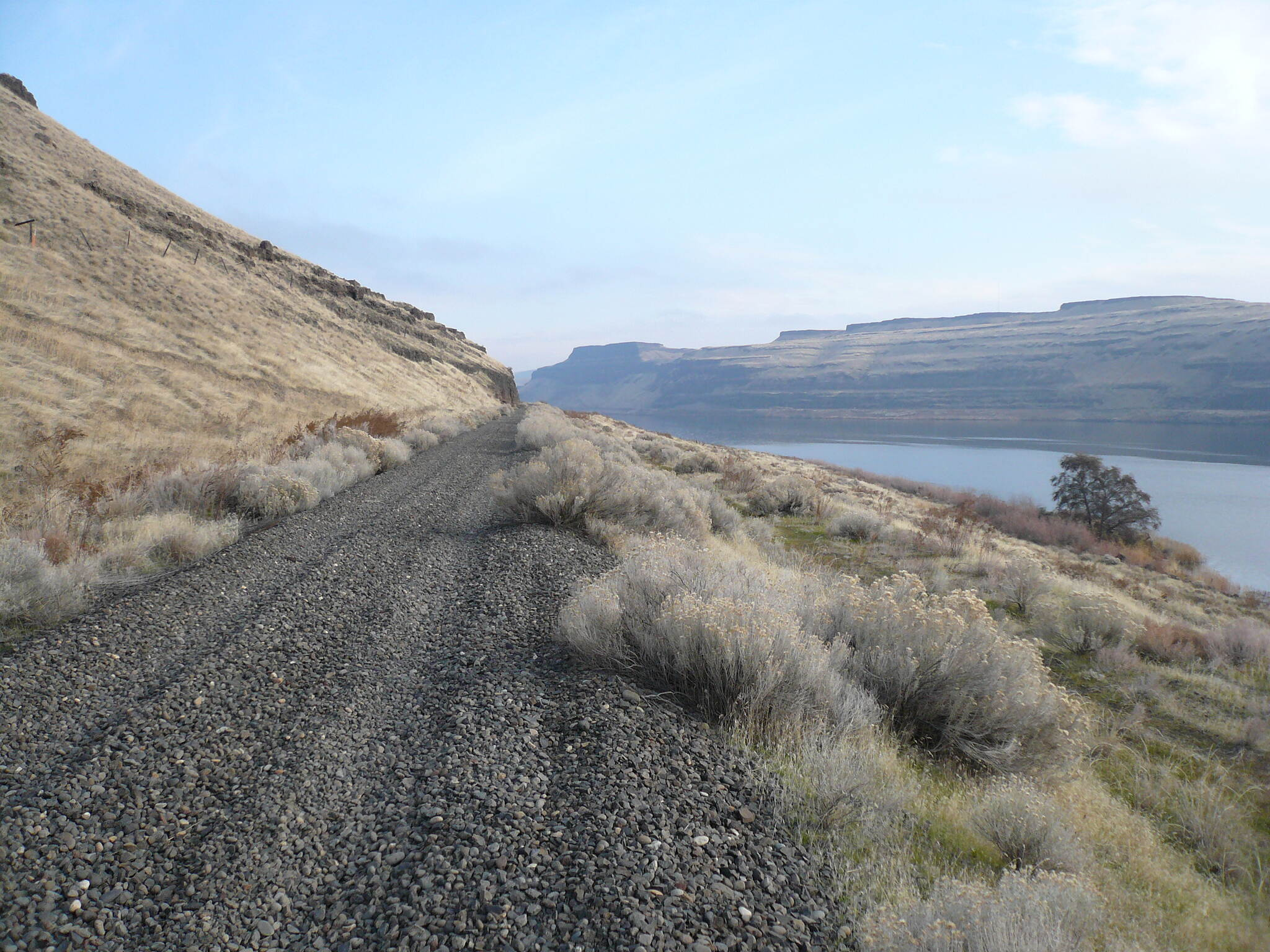 Columbia Plateau Trail State Park CP Trail on Snake River
