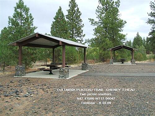 Columbia Plateau Trail State Park COLUMBIA PLATEAU TRAIL - NORTHERN SECTION PICNIC SHELTERS AT CHENEY TRAIL HEAD