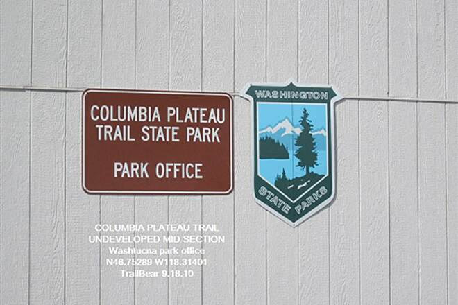 Columbia Plateau Trail State Park COLUMBIA PLATEAU TRAIL - Washtucna There is an office.  No one home, of course.