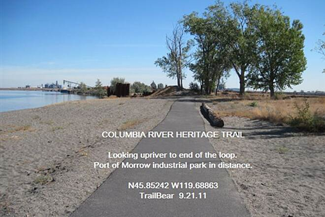 Columbia River Heritage Trail COLUMBIA RIVER HERITAGE TRAIL Ahead, the Port of Morrow