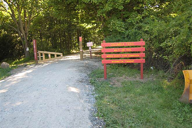 Columbia Trail Long Valley Trailhead New (late 2008) trailhead from Long Valley, NJ