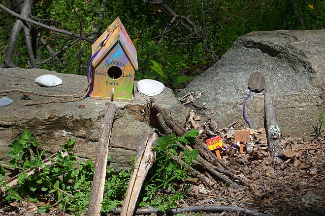 Columbia Trail whimsy along the way