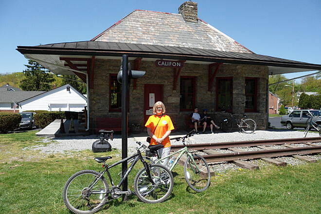 Columbia Trail Califon train station, now a historical society