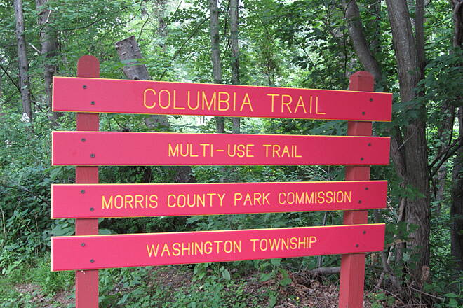 Columbia Trail Bartley Rd. Sign