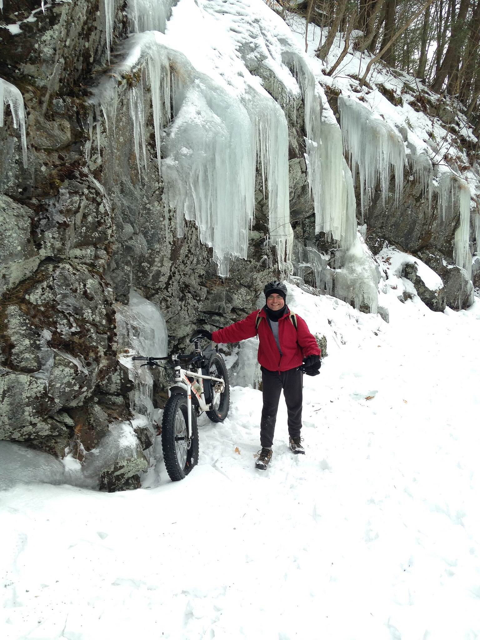 Columbia Trail Icefalls on Columbia Trail! The Columbia Trail was GREAT for fat-biking after the recent snowstorm.