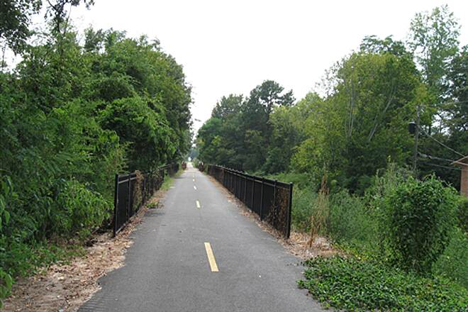 Columbus Fall Line Trace   The rail-trail offers smooth pavement for its entire 11-mile length.