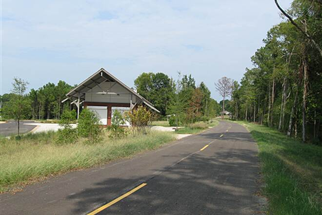 Columbus Fall Line Trace   Rest stops along the trail offer ample places to park.