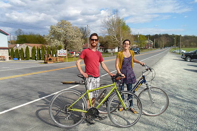 Conewago Recreation Trail Conewago Recreation Trail Couple getting ready to ride their bikes along the trail on a warm, spring day. Taken May 2015.
