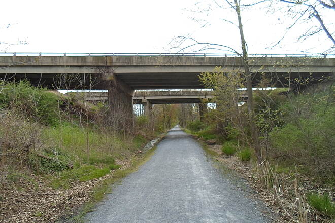 Conewago Recreation Trail Conewago Recreation Trail Another view of the bridges that carry Route 283 over the trail. Taken May 2015.