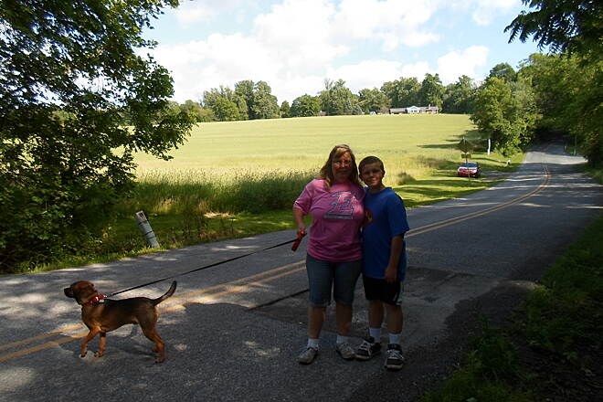 Conewago Recreation Trail Conewago Recreation Trail Mother and son taking their dog for a walk on the trail at the Koser Road crossing. Taken June 2015.