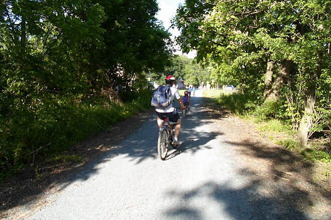 Conewago Recreation Trail Conewago Recreation Trail Family cycling through Bellaire on a warm, sunny day in early summer. Taken June 2015.
