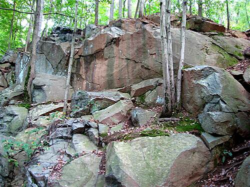 Conewago Recreation Trail Along the Rocks