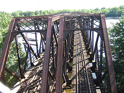 Connecticut Riverwalk and Bikeway Overview of Trestle A great view of the trestle going east to west across the Connecticut River.