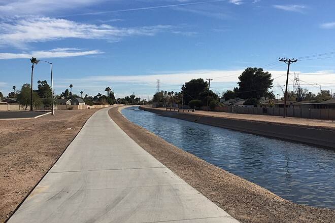Consolidated Canal Path Trail at 8th St and Harris Pl
