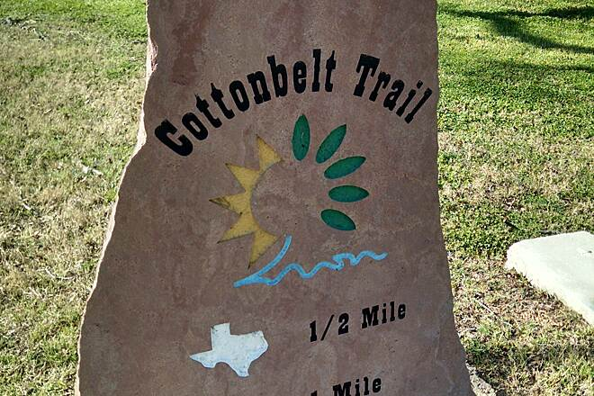 Cotton Belt Trail Marker Cotton Belt marker in Colleysville