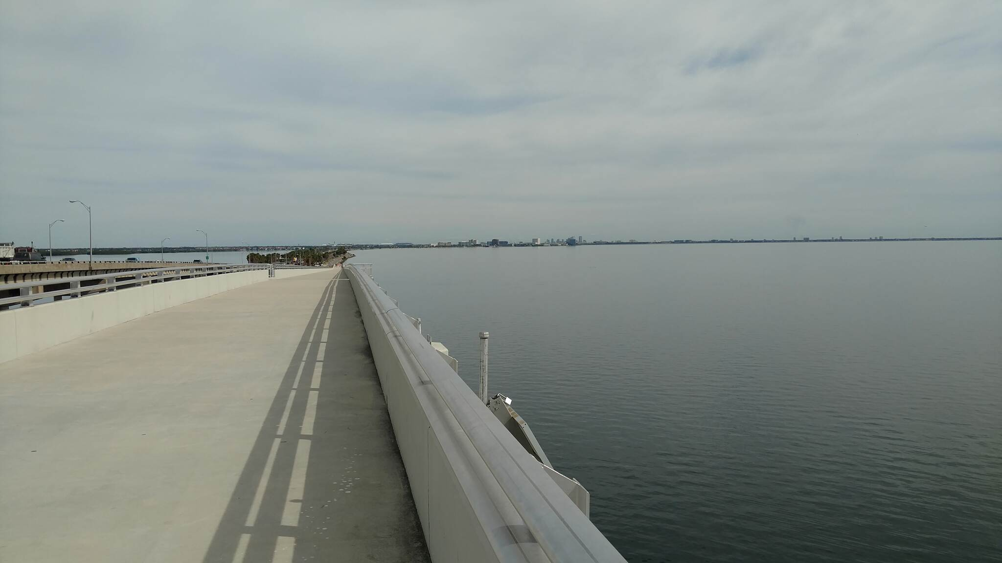 Courtney Campbell Trail Tampa from the bridge