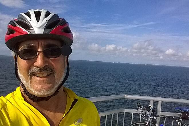 Courtney Campbell Trail Causeway Trail bridge from the top of the Courtney Campbell Causeway Trail bridge. Had never taken a selfie before this day, but the views were awesome.