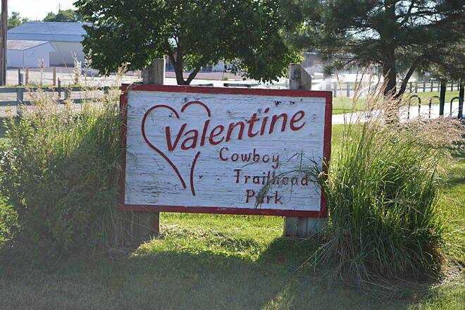 Cowboy Recreation and Nature Trail Valentine Nebraska Cowboy Trail Trailhead Valentine is a beautiful small town with a fantastic railroad and ranching history.