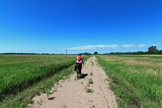Cowboy Recreation and Nature Trail Cowboy Trail Trail west of O'Neill, NE - July 2018