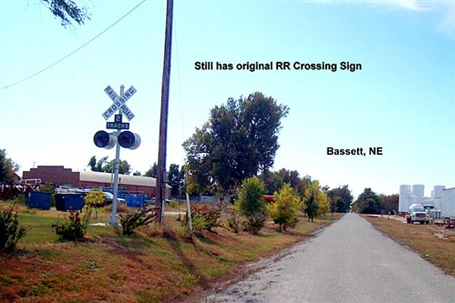 Cowboy Recreation and Nature Trail Cowboy Trail RR Crossing Signal, Bassett