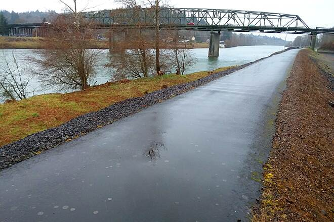Cowlitz River Trail Cowlitz River Trail a wet day along the Cowlitz River Trail.