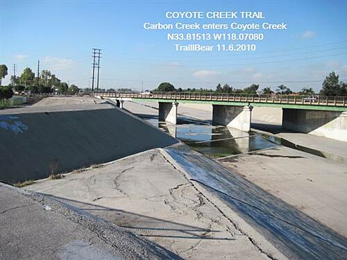 Coyote Creek Bikeway COYOTE CREEK TRAIL Carbon Creek confluence at the high school