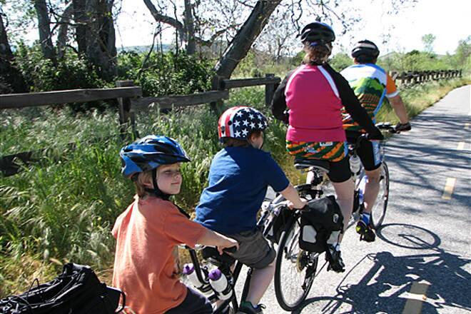 Coyote Creek Trail (San Jose) Sunday ride with the Grand kids