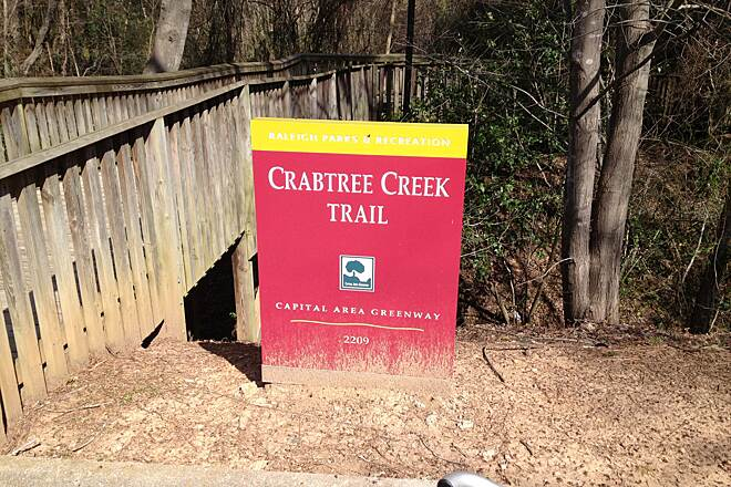 Crabtree Creek Trail Crabtree Creek Trail sign