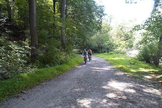 Creek Road Trail Creek Road Trail Cyclists enjoying the bright, sunny summer weather. Taken July 2015.