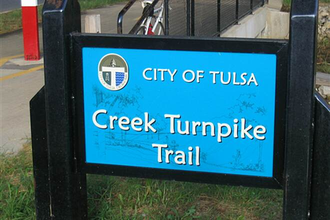 Creek Turnpike Trail Creek Turnpike trail sign