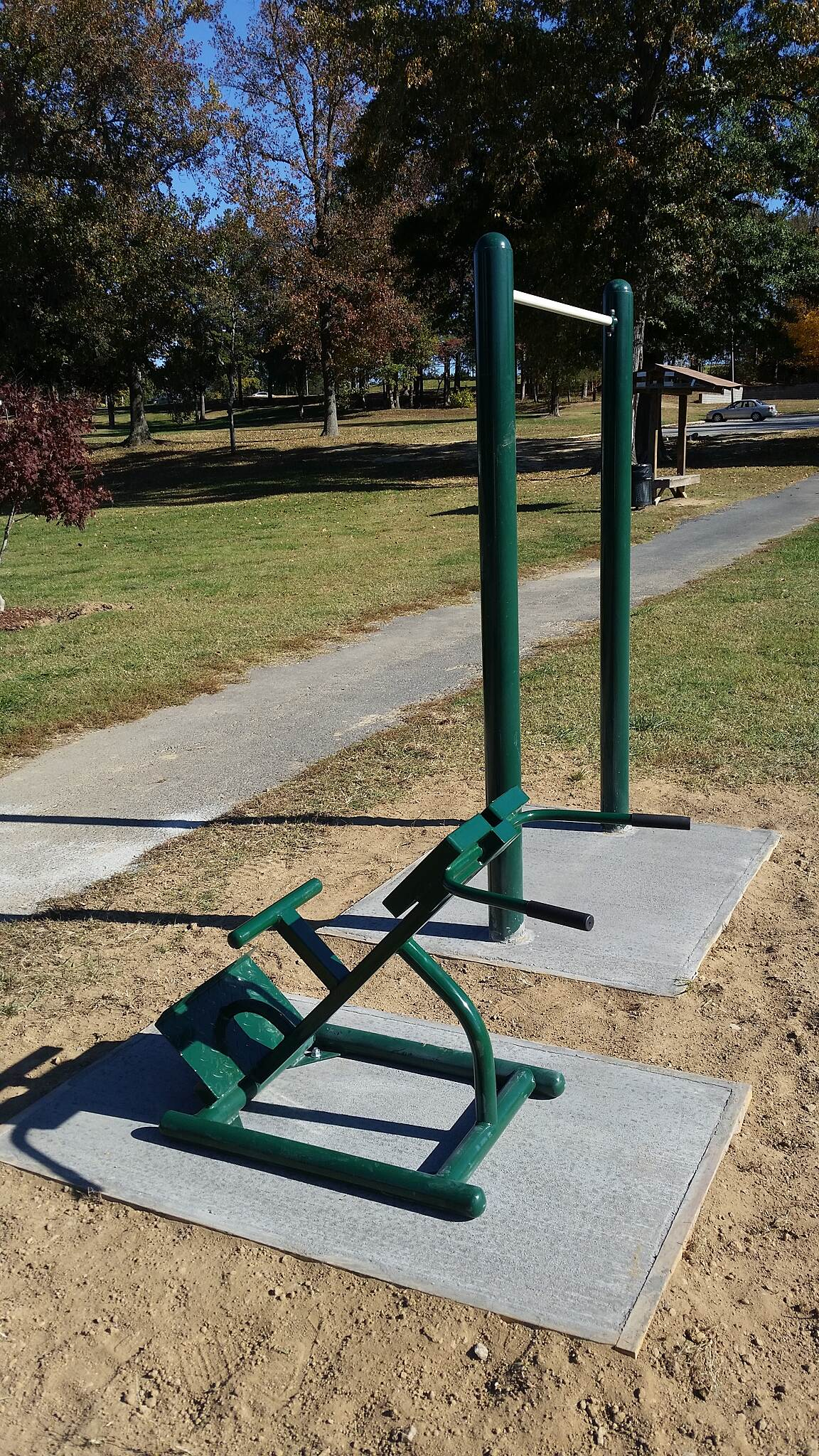 Creekside Park Trails Green Trail exercise equipment Courtesy City of Archdale Parks and Recreation