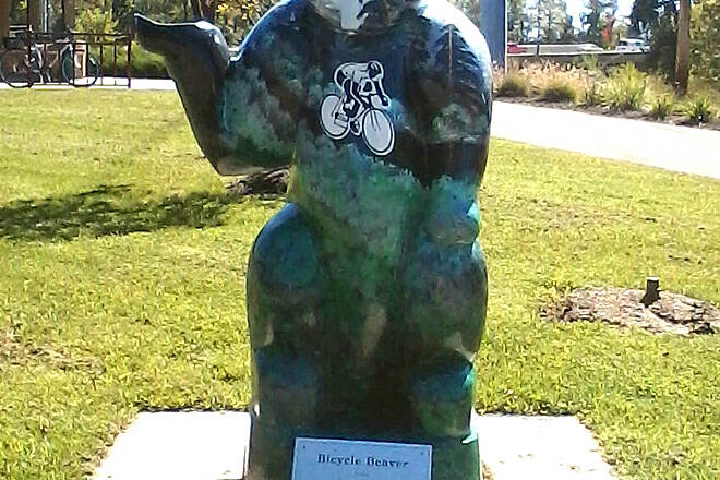 Creekside Trail Beaver statue at Depot 2013