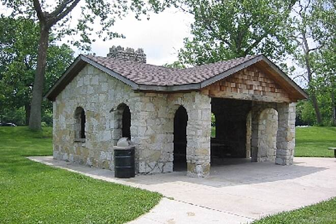 Creekside Trail Pavillion in Eastwood Park, Dayton