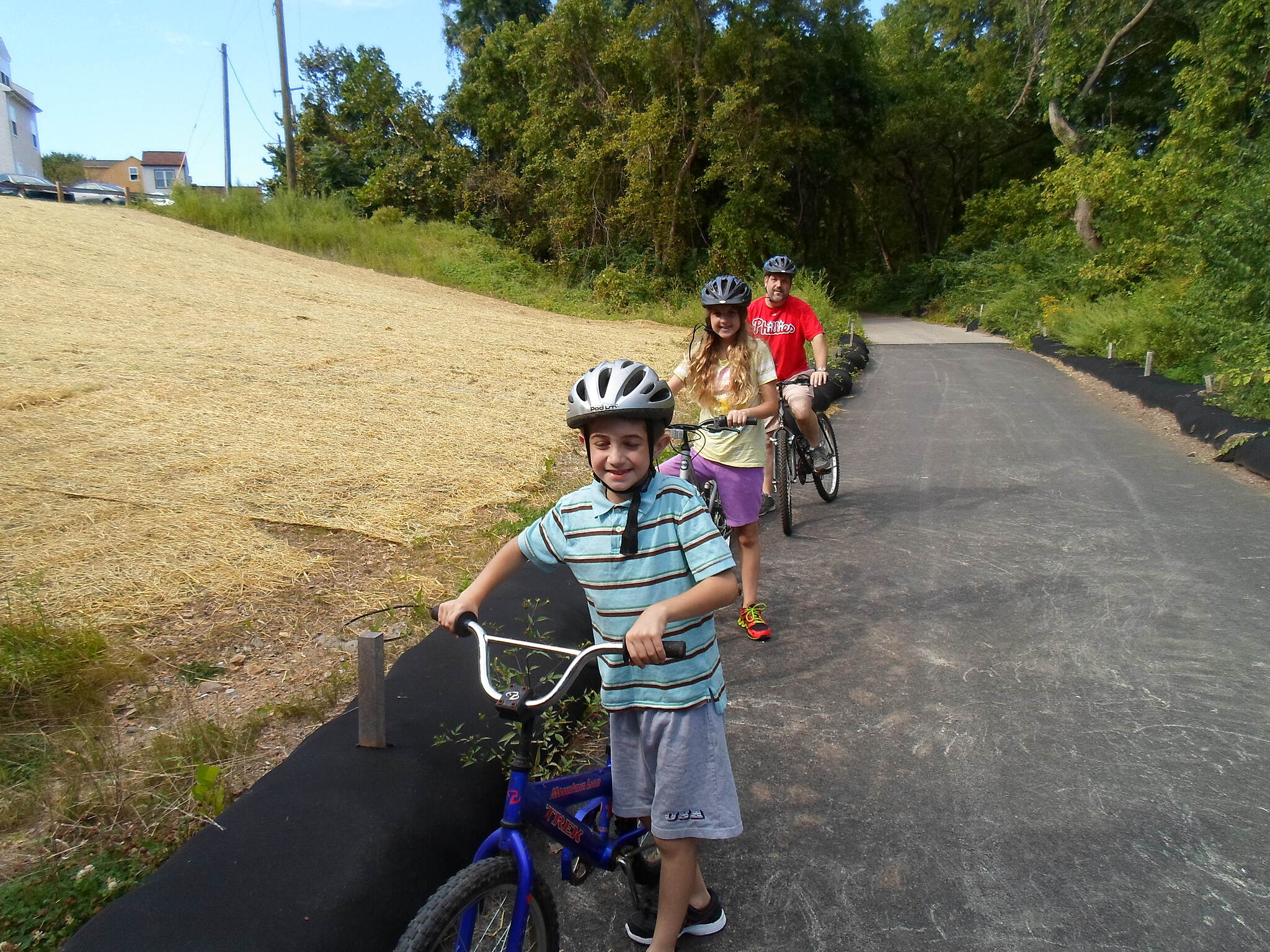 Cross County Trail (PA) Cross County Trail Family enjoying a bike ride on the trail in Conshohocken. Taken Sept. 2014.
