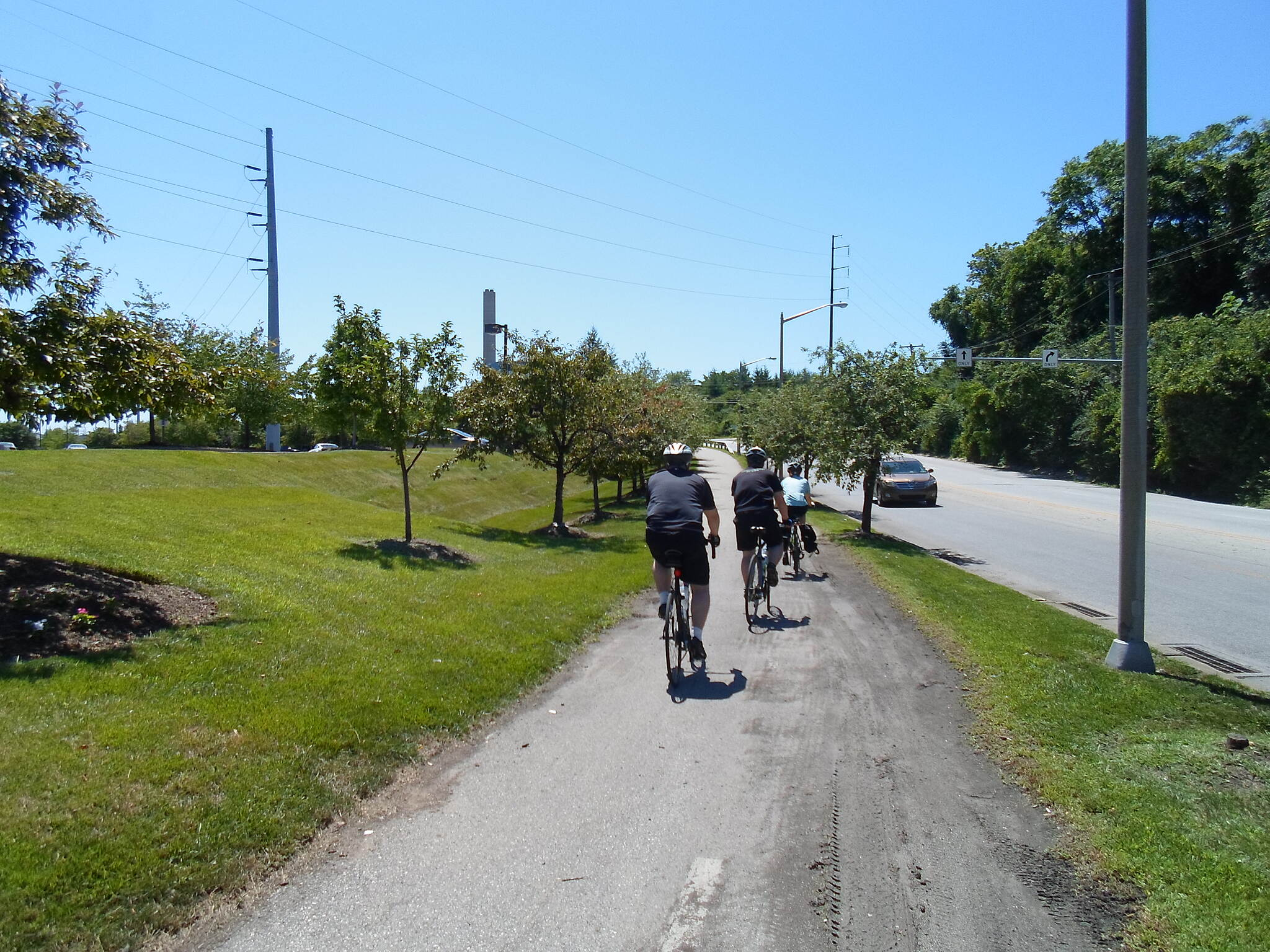 Cross County Trail (PA) Cross County Trail Cyclists riding down the trail along Allen Wood Road. Taken on a hot, summer day in July 2014.