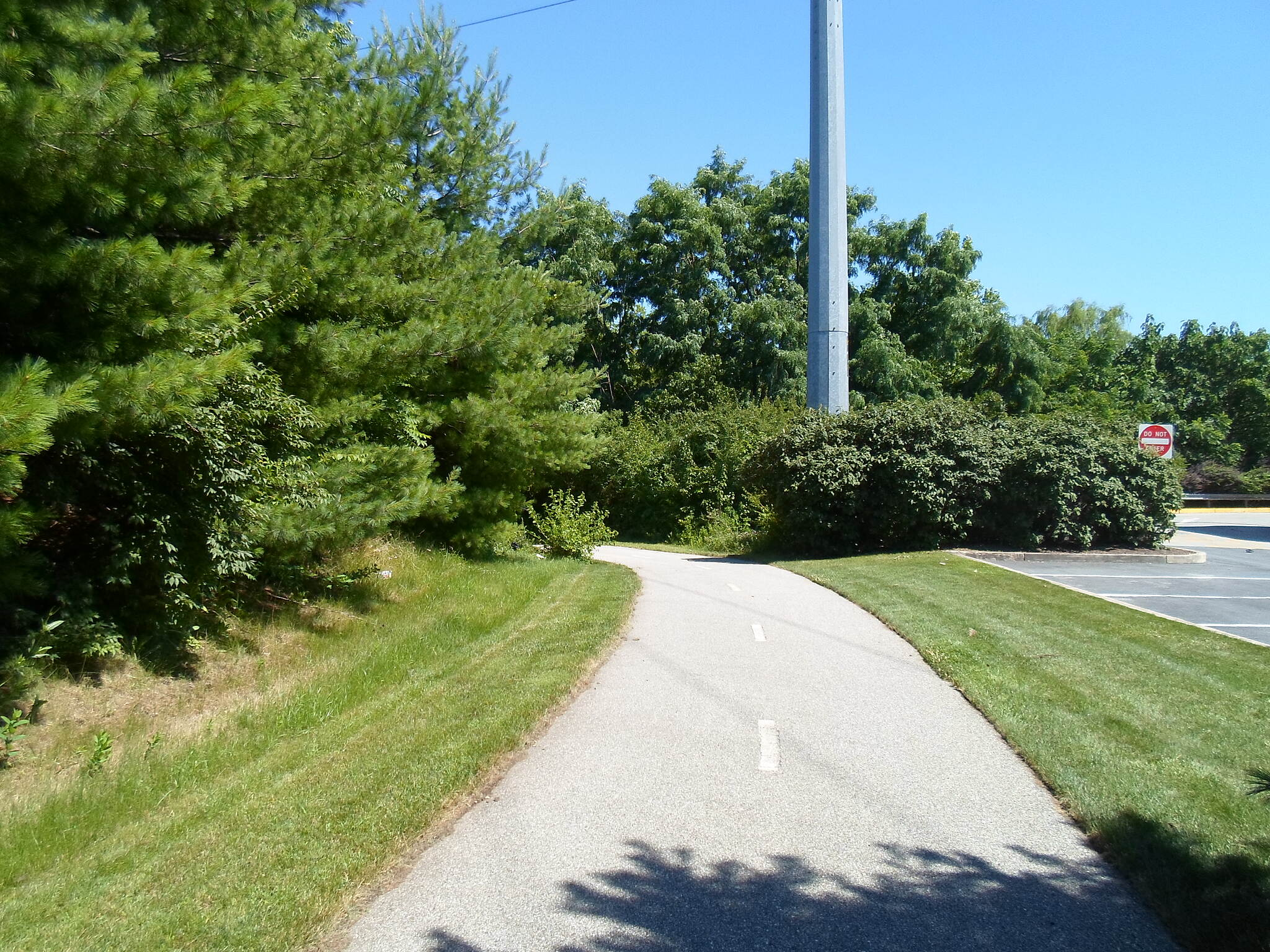 Cross County Trail (PA) Cross County Trail Section north of the parking lot to the strip mall off Allen Wood Road and Ridge Pike.