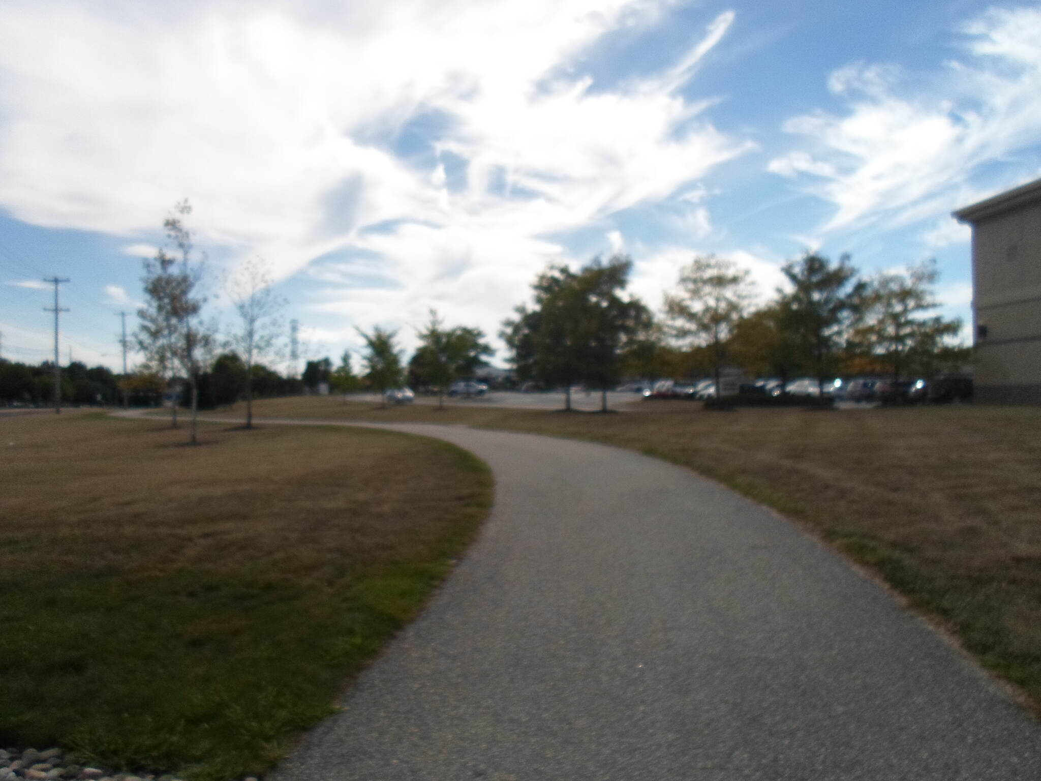 Cross County Trail (PA) Cross County Trail Winding around the Metroplex shopping center in Plymouth Meeting. Note the late summer sky. Taken Sept. 2014.