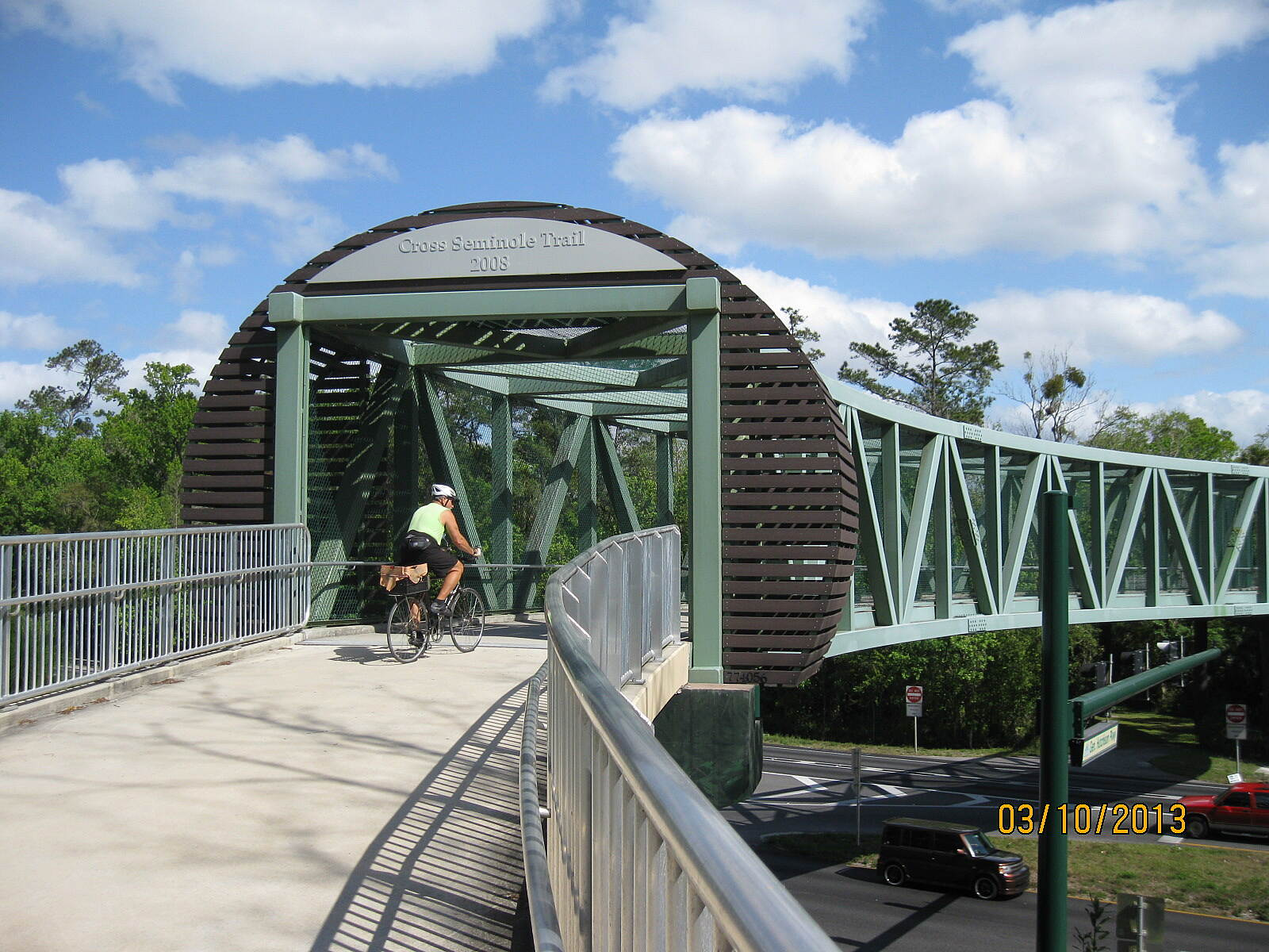 Cross Seminole Trail Bridge Across Hwy 17-92 Bridge Across Highway 17-92 near Longwood/Winter Springs